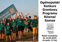 Trwa nabór wniosków w Ogólnopolskim Konkursie Grantowym Programu Równać Szanse 2019