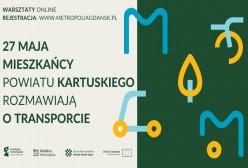 plakat zapraszający na warsztaty online dla powiatu kartuskiego