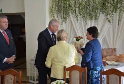 Starosta Kartuski Bogdan Łapa,  Burmistrz Kartuz Mieczysław Grzegorz Gołuński, Prezes Janina Doba