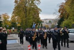 orkiestra strażacka podczas śwęta patrona miasta