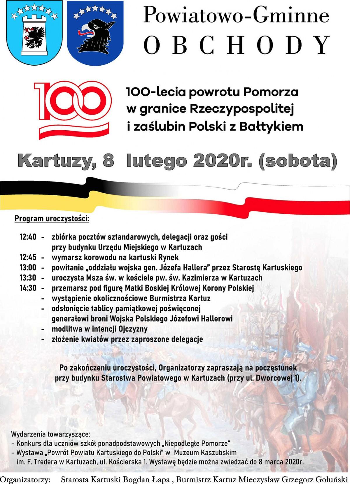 Powiatowo- Gminne Obchody 100 lecia powrotu Pomorza do Rzeczypospolitej
