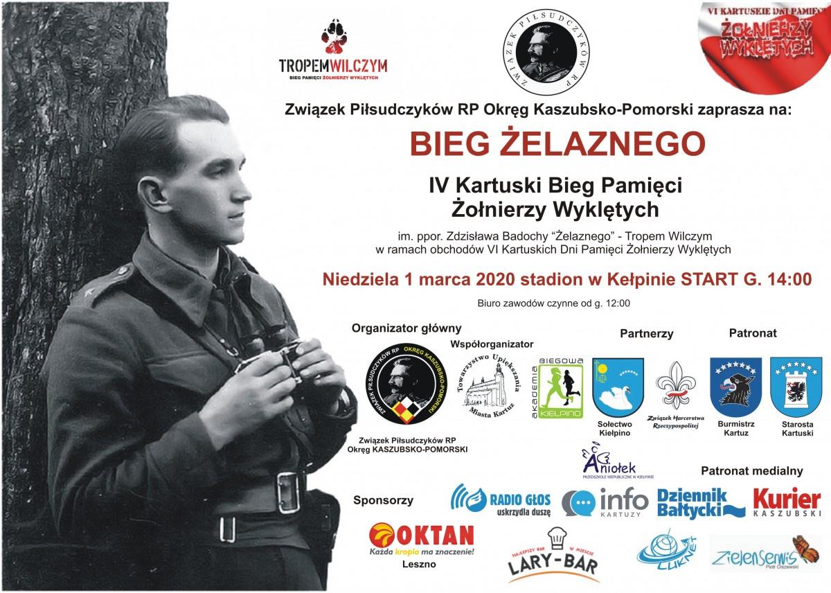 BIEG ŻELAZNEGO IV Kartuski Bieg Pamięci Żołnierzy Wyklętych