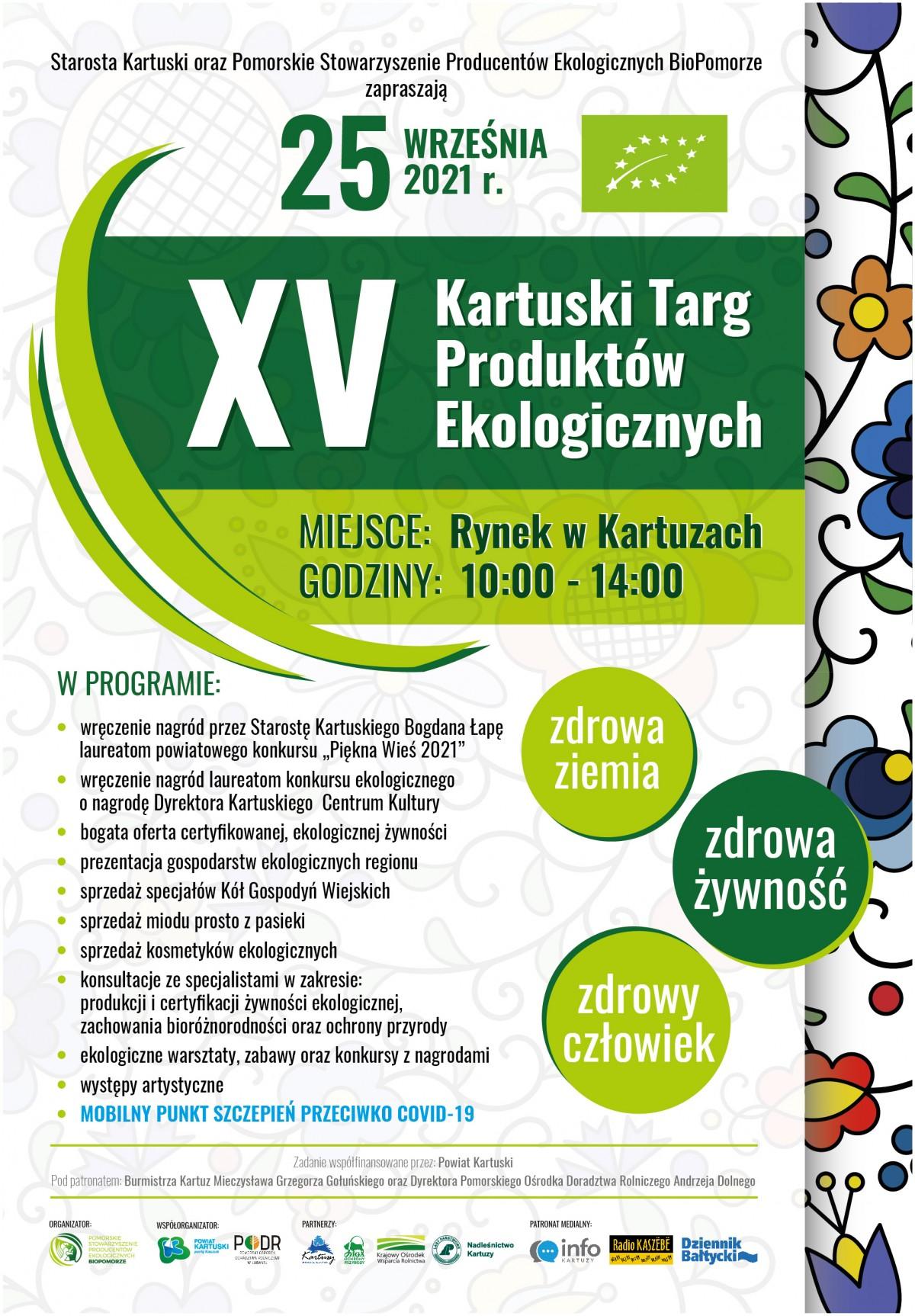 XV Kartuski Targ Produktów Ekologicznych